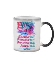 To My Unicorn Sister Color Changing Mug tile