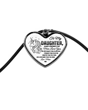 Unicorn Mom Loves You Daughter Mom Cord Heart Necklace tile