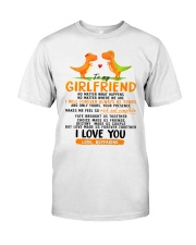 Dinosaur Girlfriend Love Made Us Forever Together  Classic T-Shirt thumbnail