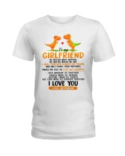Dinosaur Girlfriend Love Made Us Forever Together  Ladies T-Shirt thumbnail