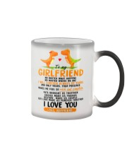 Dinosaur Girlfriend Love Made Us Forever Together  Color Changing Mug thumbnail