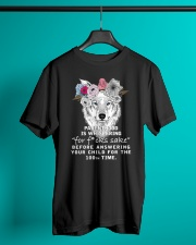 Parenthood Is Whispering Mom Wolf  Classic T-Shirt lifestyle-mens-crewneck-front-3