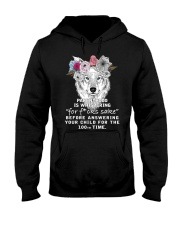 Parenthood Is Whispering Mom Wolf  Hooded Sweatshirt thumbnail