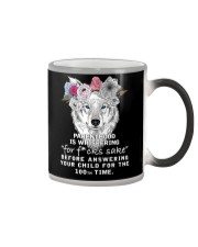 Parenthood Is Whispering Mom Wolf  Color Changing Mug thumbnail