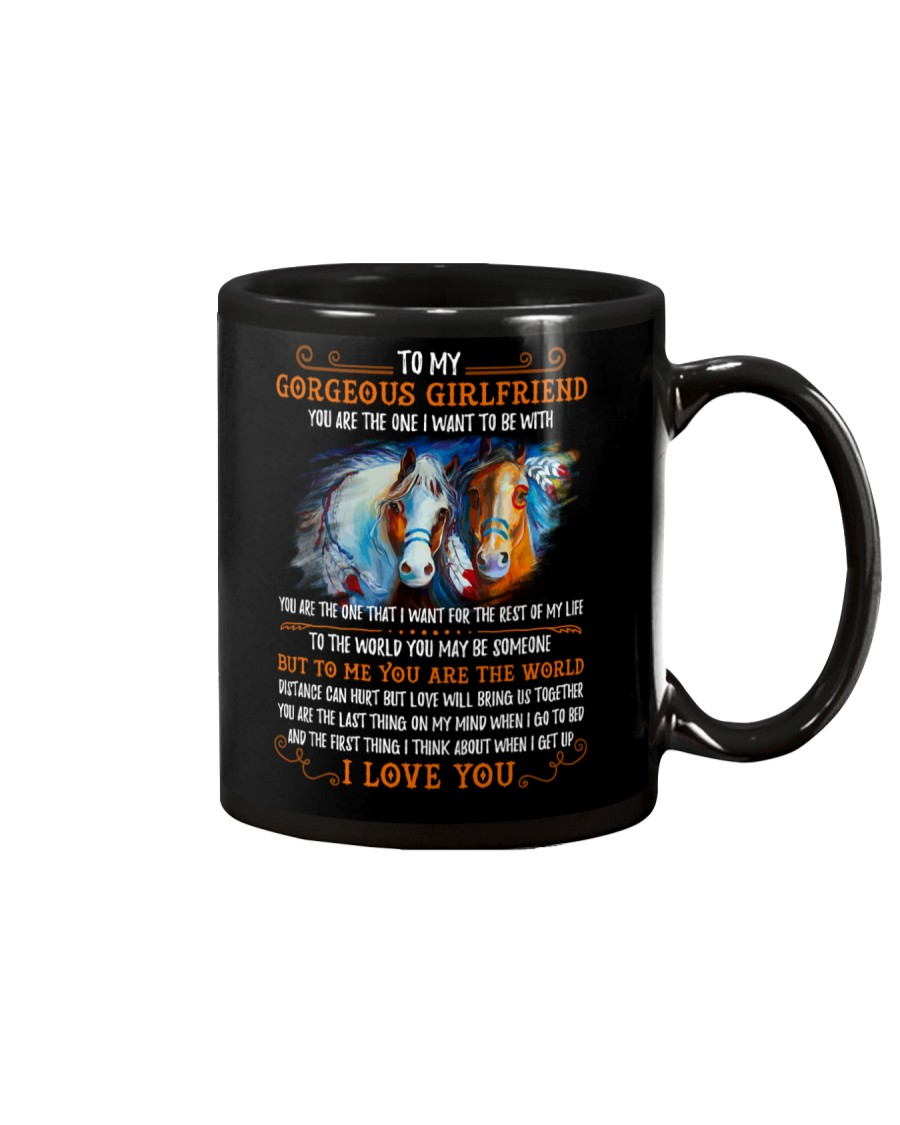 Horse Girlfriend To Me You Are The World Mug