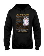 Faithful Partner True Love Wife Unicorn Hooded Sweatshirt tile