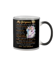 Faithful Partner True Love Wife Unicorn Color Changing Mug tile