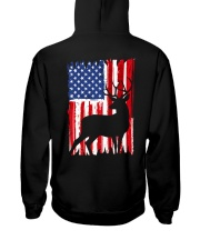 Hunting American flag Hooded Sweatshirt back