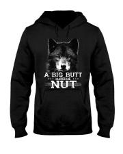 Wolf Big Butt Makes Me Nut Hooded Sweatshirt thumbnail