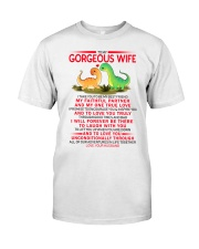Dinosaur Faithful Partner True Love Wife  Classic T-Shirt tile