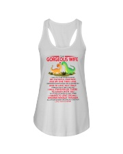Dinosaur Faithful Partner True Love Wife  Ladies Flowy Tank tile
