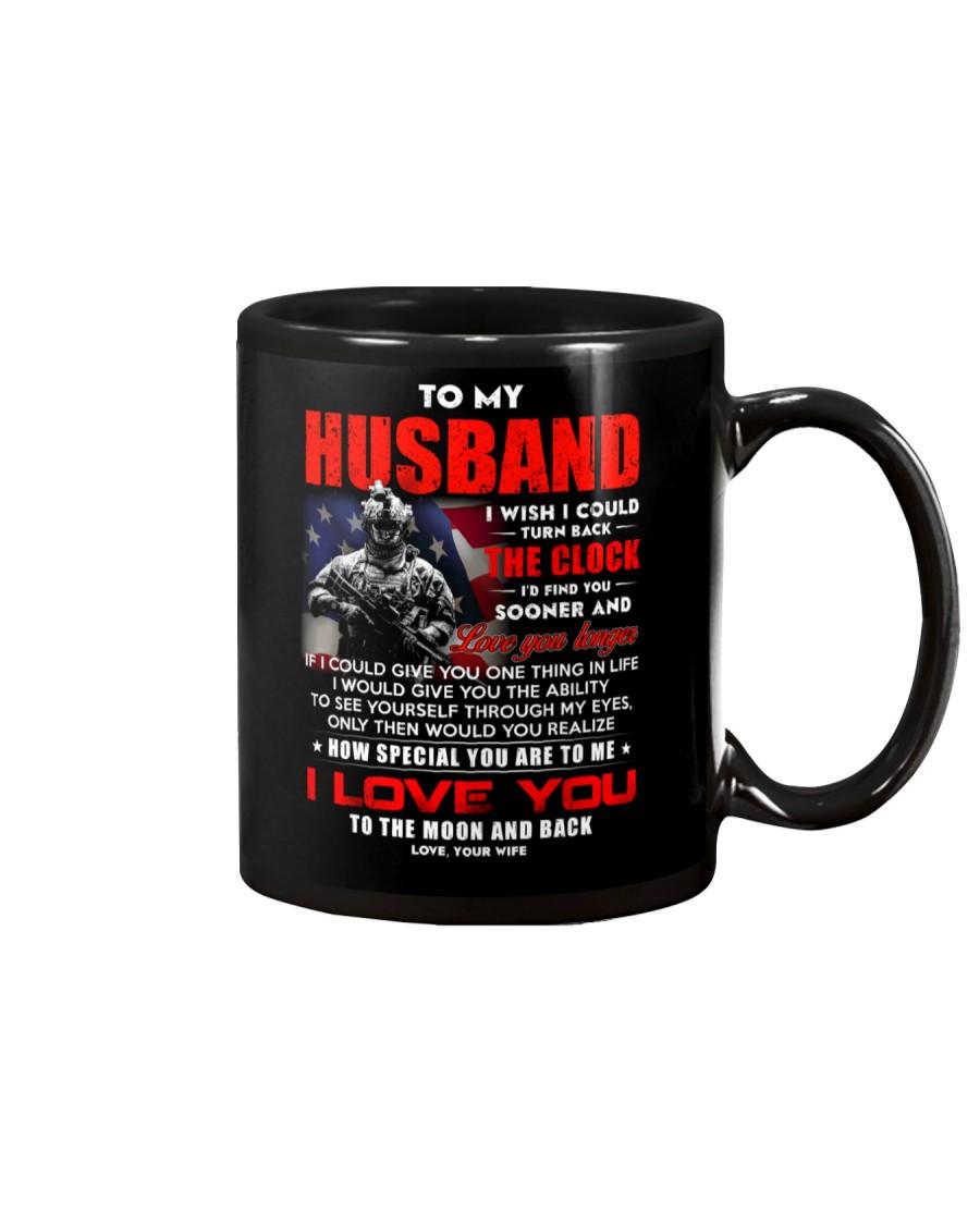 Veteran Husband Clock Ability Moon Mug