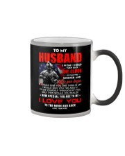 Veteran Husband Clock Ability Moon Color Changing Mug tile