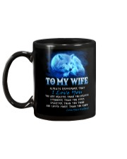 Wolf I Love You Wife Mug back