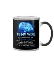 Wolf I Love You Wife Color Changing Mug thumbnail