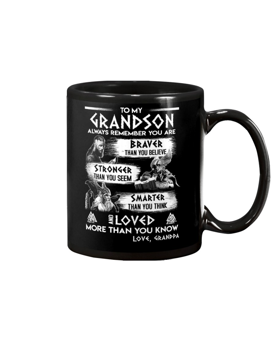 Always Remember Grandson Viking Mug