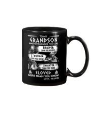 Always Remember Grandson Viking Mug front