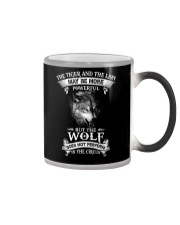 The Wolf Does Not Perform In The Circus  Color Changing Mug thumbnail