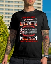 And God Said Let There Be A Firefighter Classic T-Shirt lifestyle-mens-crewneck-front-8