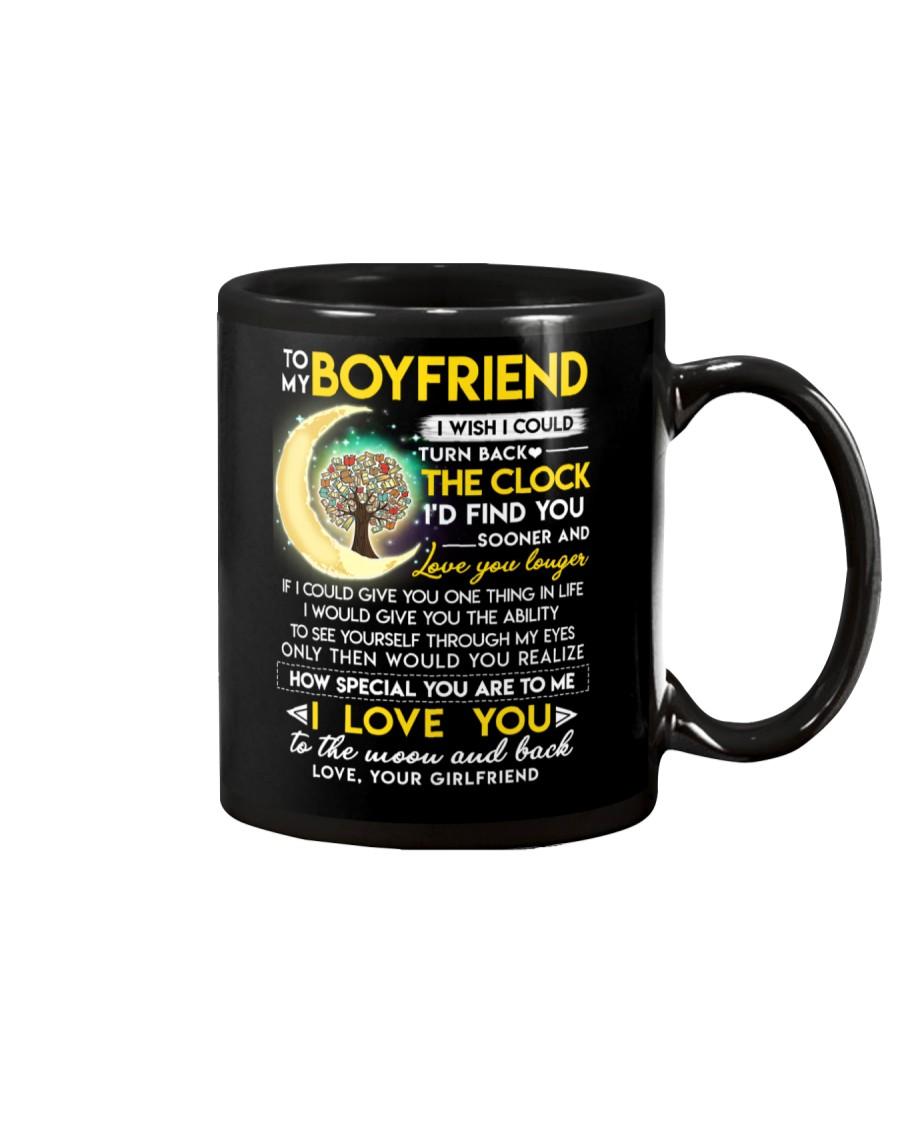 Reading Boyfriend Clock Ability Moon Mug