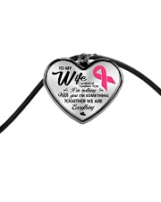 Breast Cancer Together We Are Everything Cord Heart Necklace thumbnail