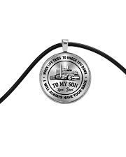 To My Son Trucker Necklace Cord Circle Necklace thumbnail
