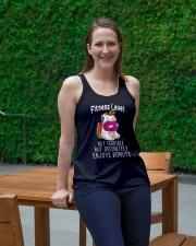 Unicorn Fitness Level Ladies Flowy Tank lifestyle-bellaflowy-tank-front-1