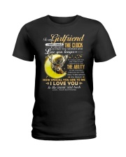 Hunting Girlfriend Clock Ability Moon Ladies T-Shirt tile