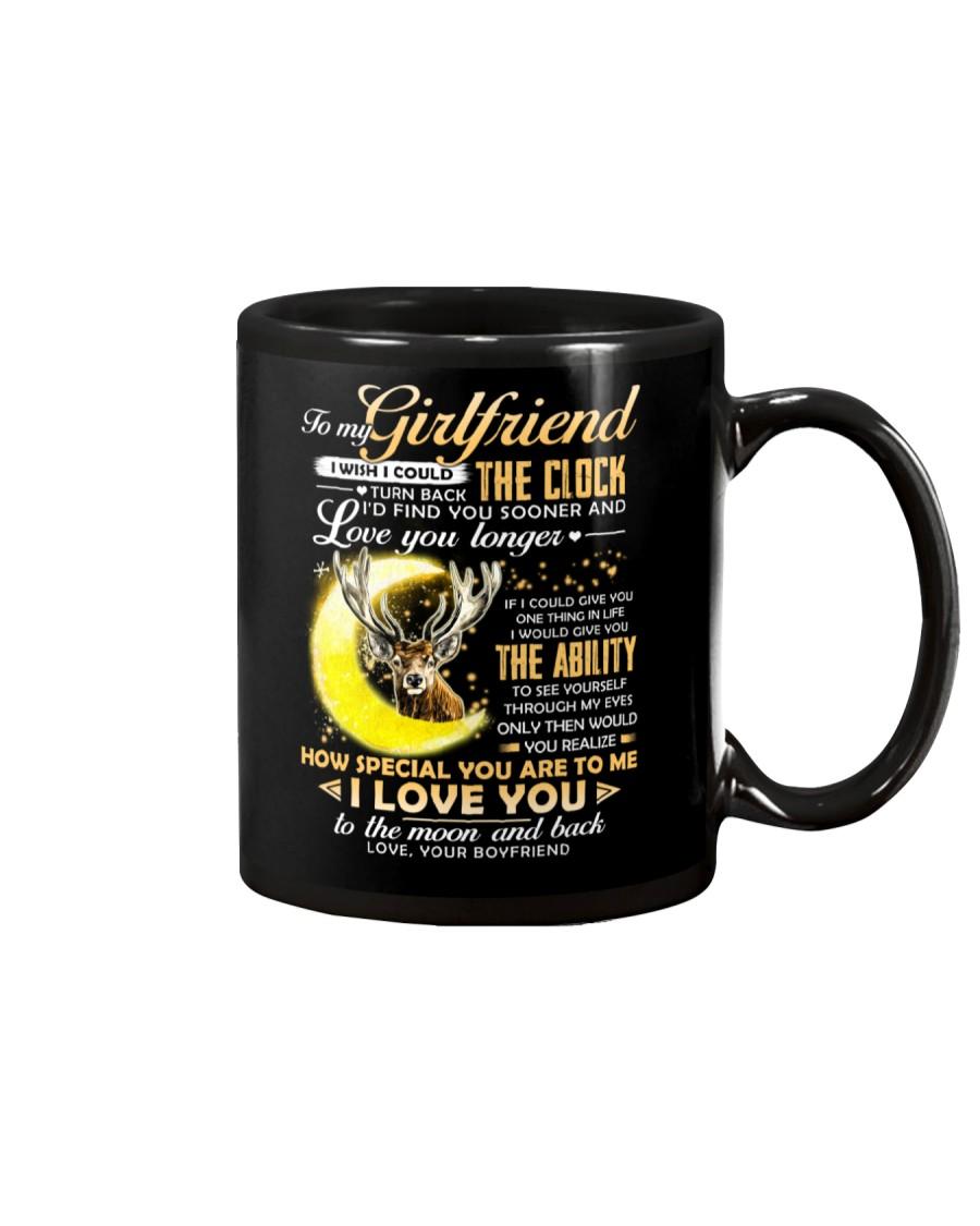 Hunting Girlfriend Clock Ability Moon Mug