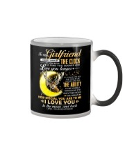 Hunting Girlfriend Clock Ability Moon Color Changing Mug tile