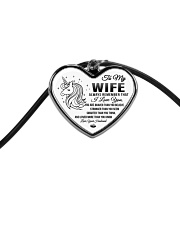 Unicorn I Love You Wife Cord Heart Necklace tile