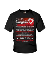 Family Daughter Dad Moon Ability Gift Youth T-Shirt thumbnail
