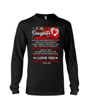Family Daughter Dad Moon Ability Gift Long Sleeve Tee thumbnail