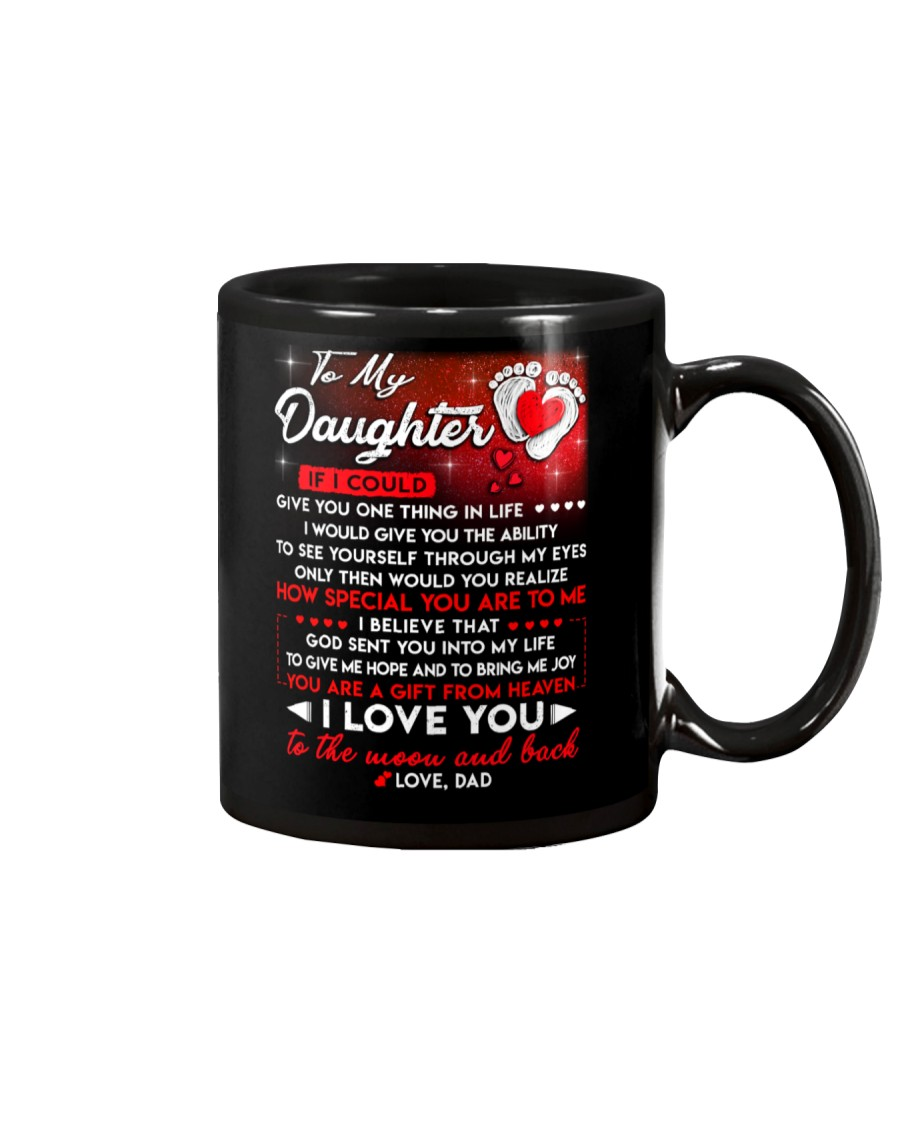 Family Daughter Dad Moon Ability Gift Mug