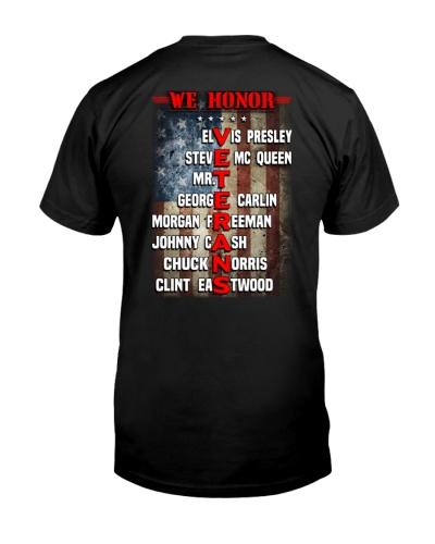 Veteran shirt: We honor Veterans