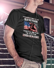 Veteran Underestimate me  Classic T-Shirt lifestyle-mens-crewneck-front-5
