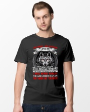 They Made Me Stronger Wolf  Classic T-Shirt lifestyle-mens-crewneck-front-15