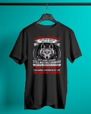 They Made Me Stronger Wolf  Classic T-Shirt lifestyle-mens-crewneck-front-3