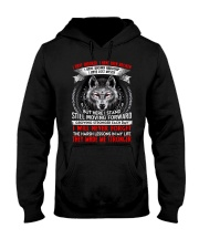 They Made Me Stronger Wolf  Hooded Sweatshirt thumbnail