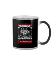 They Made Me Stronger Wolf  Color Changing Mug thumbnail