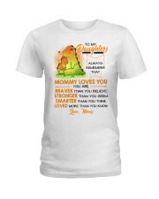 Dinosaur Daughter Mom Mommy Loves You Ladies T-Shirt thumbnail