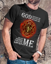 Firefighter God Designed Me Classic T-Shirt lifestyle-mens-crewneck-front-4
