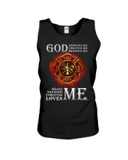 Firefighter God Designed Me Unisex Tank thumbnail