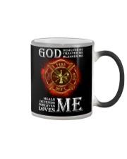 Firefighter God Designed Me Color Changing Mug thumbnail