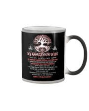 Faithful Partner True Love Wife Viking Color Changing Mug tile