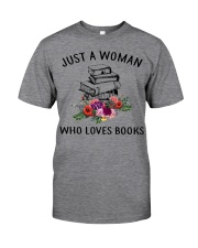 Just A Woman Who Loves Books Shirt Classic T-Shirt front
