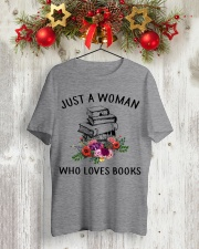 Just A Woman Who Loves Books Shirt Classic T-Shirt lifestyle-holiday-crewneck-front-2