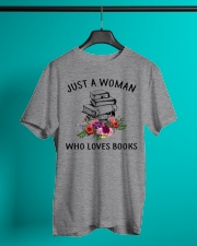 Just A Woman Who Loves Books Shirt Classic T-Shirt lifestyle-mens-crewneck-front-3