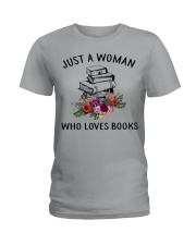 Just A Woman Who Loves Books Shirt Ladies T-Shirt thumbnail