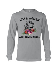 Just A Woman Who Loves Books Shirt Long Sleeve Tee thumbnail